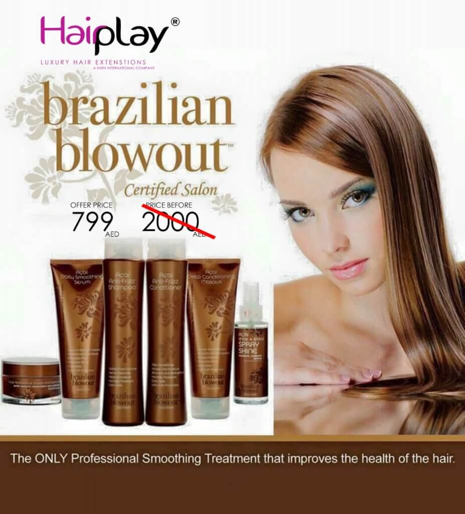 Brazilian Blowout Salon Dubai, UAE | Keratin Hair Smooothing